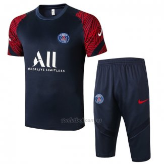 Chandal del Paris Saint-Germain Manga Corta 2020-2021 Azul y Rojo